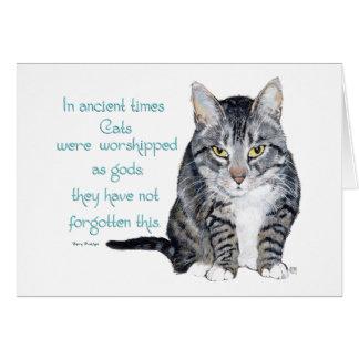 Sabiduría del gato - en épocas antiguas, los gatos tarjeta de felicitación