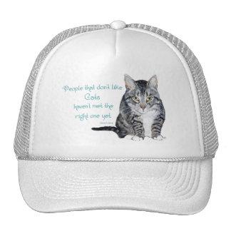 Sabiduría del gato - gente que no tiene gusto de g gorro de camionero