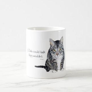 Sabiduría del gato - si los gatos podrían taza
