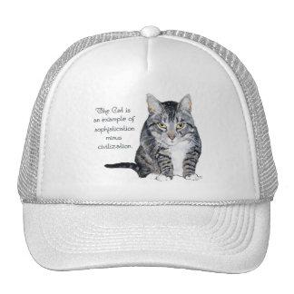 ¿Sabiduría del gato - sofisticación menos la civil Gorro De Camionero