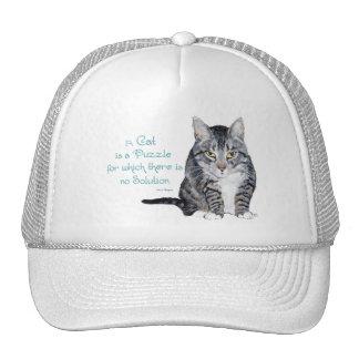 Sabiduría del gato - un gato es un rompecabezas gorro de camionero
