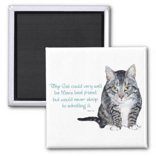 Sabiduría del gato - y amistad iman para frigorífico