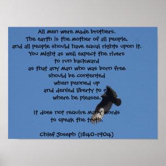 Sabiduría del nativo americano - libertad impresiones