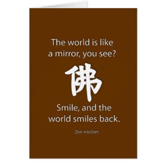 Sabiduría del zen - conseguimos lo que damos tarjeta de felicitación