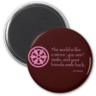 Sabiduría del zen imanes para frigoríficos