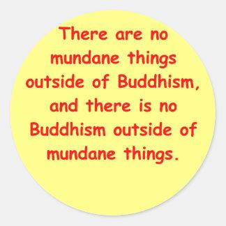 sabiduría del zen pegatina redonda