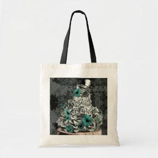 Sabiduría en búho floral de la naturaleza bolsa