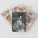 Sabiduría en búho floral de la naturaleza baraja cartas de poker