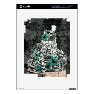 Sabiduría en búho floral de la naturaleza iPad 3 skin