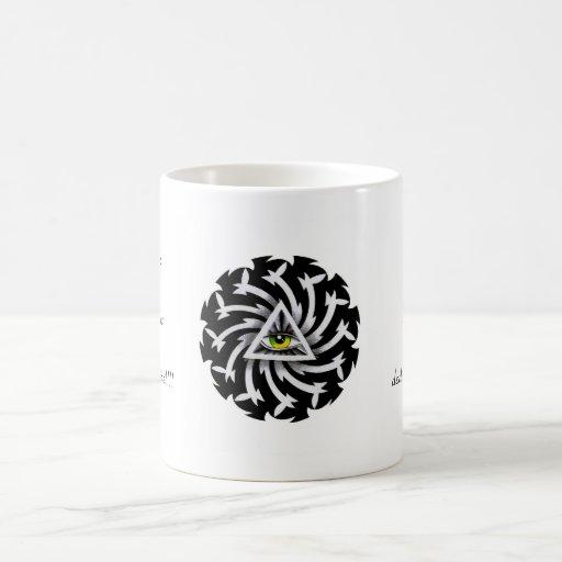 Sabiduría fresca del tercer ojo del símbolo del ta taza básica blanca