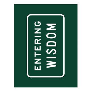 Sabiduría, marcador del camino, Montana, los Tarjeta Postal