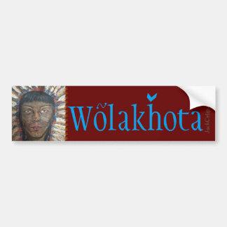 """""""Sabiduría"""" PEACE~Wolakhota Pegatina Para Auto"""