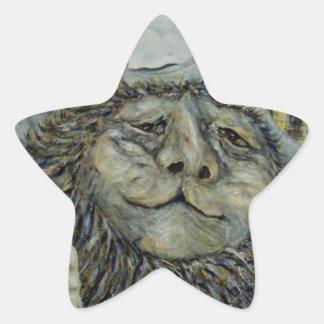 Sabiduría Pegatina En Forma De Estrella