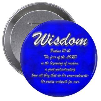 Sabiduría Pin Redondo De 4 Pulgadas