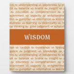 sabiduría placa de madera