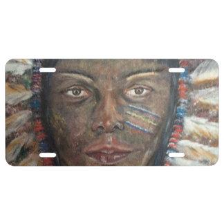 """""""Sabiduría"""": Placa delantera del nativo americano Placa De Matrícula"""