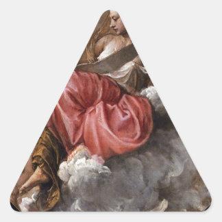 Sabiduría por Titian Pegatina Triangular