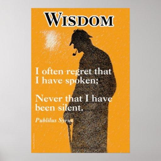 Sabiduría Póster