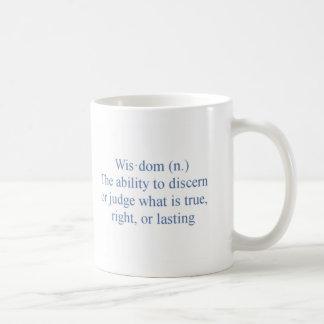 Sabiduría Taza Básica Blanca