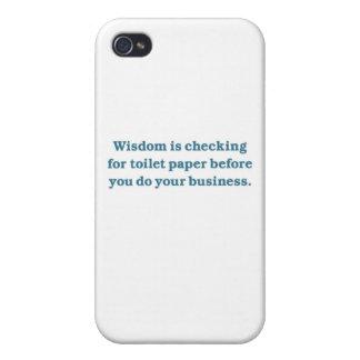 Sabiduría (taza del inodoro azul) iPhone 4/4S carcasa
