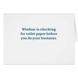 Sabiduría (taza del inodoro azul) tarjeta de felicitación