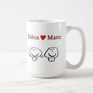 """Sabin heart Marc"" Classic White Coffee Mug"
