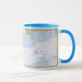 Sabine Bank Texas Nautical Chart Mug