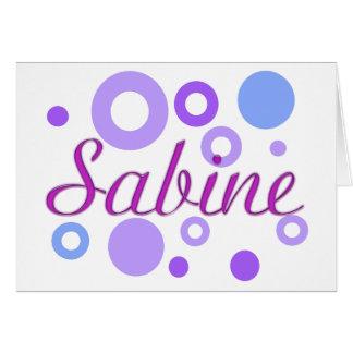 Sabine Card
