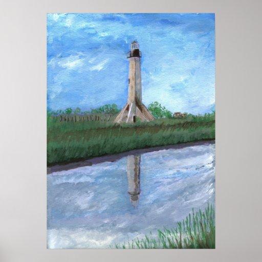 Sabine Pass Lighthouse, Louisiana Poster