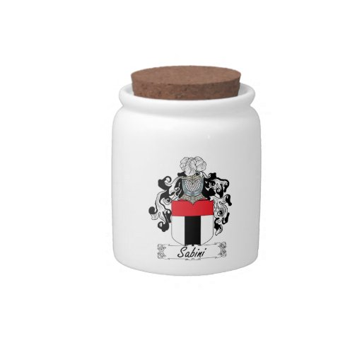 Sabini Family Crest Candy Jars