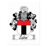 Sabini Family Crest Postcard