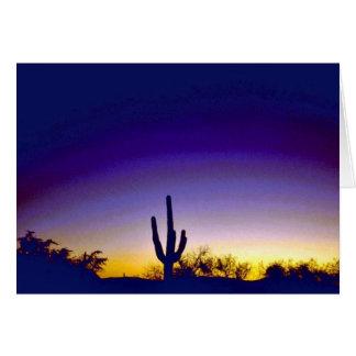 Sabino Canyon Arizona Sunset Card