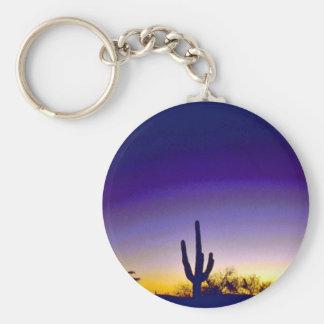 Sabino Canyon Arizona Sunset Keychain