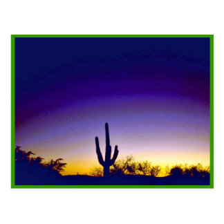 Sabino Canyon Arizona Sunset Postcard
