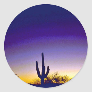 Sabino Canyon Arizona Sunset Stickers