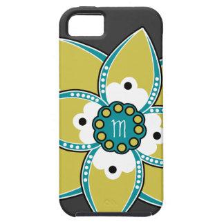 Sabio bonito y diseño azul del pétalo de la flor iPhone 5 carcasa