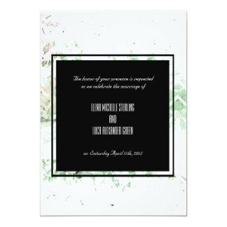 """Sabio bonito y extracto blanco del Grunge Invitación 5"""" X 7"""""""