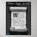 Sabio de plata Scrolls™ 009: Jefferson, 2da enmien Poster