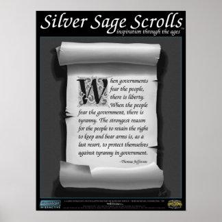 Sabio de plata Scrolls™ 009: Jefferson, 2da Póster