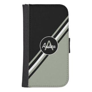 Sabio del desierto, blanco y negro personalizado funda billetera para teléfono