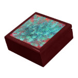 Sabio verde en la arena roja cajas de regalo