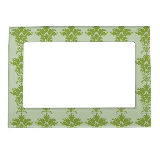 sabio verde y modelo adornado verde oliva del dama marcos magneticos de fotos