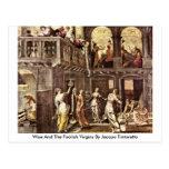 Sabio y las vírgenes absurdas de Jacopo Tintoretto Postales