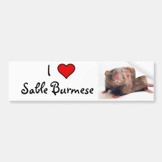 Sable Burmalicious Bumper Sticker