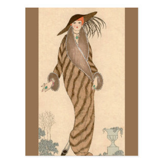 Sable Coat George Barbier Postcard