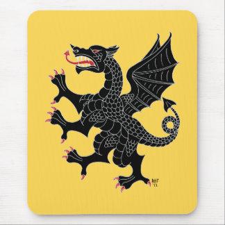 Sable desenfrenado Mousepad del dragón Alfombrillas De Raton