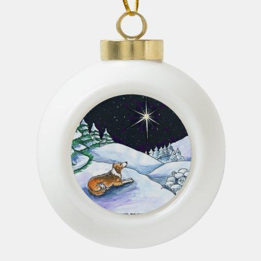 Sable English Shepherd Christmas ornament