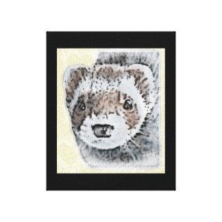 Sable Ferret Picture Canvas Print