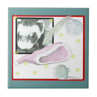 Sable Ferret Picture Ceramic Tile