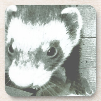 Sable Ferret Picture Drink Coaster